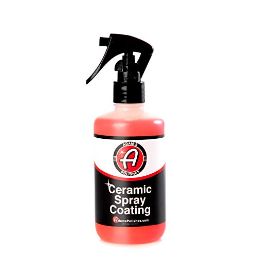 Adams Ceramic Spray Coating 8 oz  A True 9h Nano Ceramic Spray Protection for Car, Boat & Motorcycle Paint  Top Coat Polish Sealant After Clay Bar, Orbital Polisher Treatment & Detail Car Wash