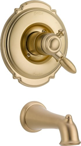 Delta Faucet T17155-CZ Victorian Monitor 17 Series Tub Trim Only, Champagne Bronze ()