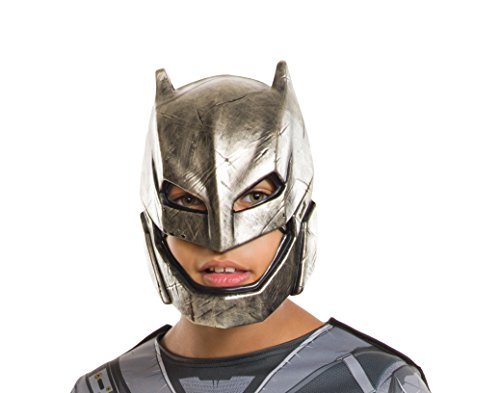 Rubie's Costume Batman v Superman: Dawn of Justice Kid's Armored Batman Half Mask (Superman Costume For Sale)