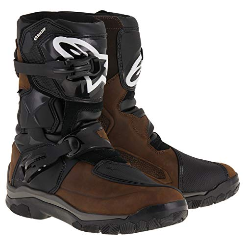 Alpinestars Mens Belize Drystar Oiled Leather Boot (Brown, - Oiled Black Boots