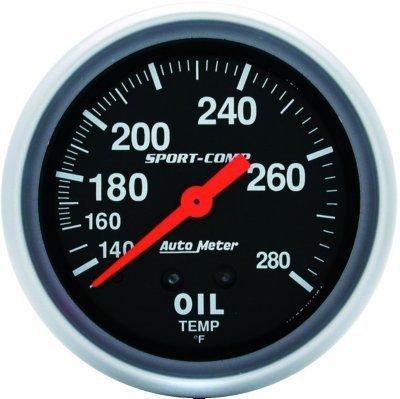 (3443 - Autometer 3443 Oil Temperature Gauge - Mechanical, Universal)