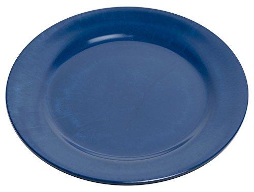 Galleyware Blue Melamine Non-Skid Dinner Plates, Set Of 6 (Non Skid Plates)