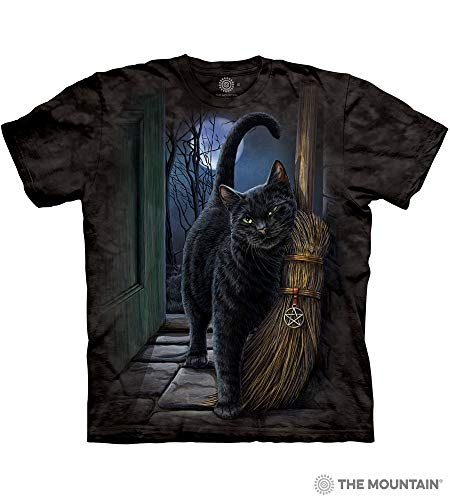 The Mountain A Brush With Magic Adult T-Shirt, Black, Large -