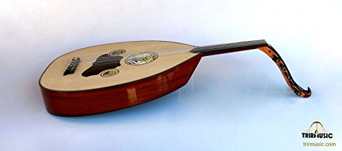 Turkish Professional Half Cut Electric Oud Ud String Instrument AOH-101K by Sala Muzik
