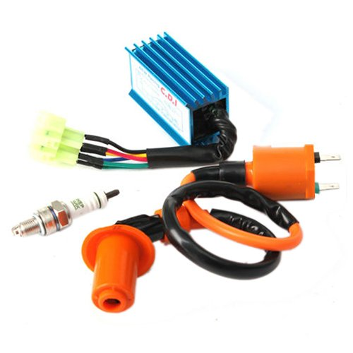 Ignition Coil - SODIAL(R) Racing Ignition Coil+Spark Plug+CDI Box For GY6 50cc-150cc 4-Stroke Engines ATV 060713