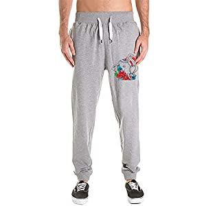 Asolliy Men's Elephant Vector Sweatpants with Pockets