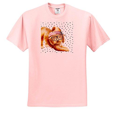 Uta Naumann Watercolor Illustration Animal - Cute Funny Dog Illustration On Polkadots- Toy Poodle - T-Shirts - Light Pink Infant Lap-Shoulder Tee (24M) (Pink Polka Dot Poodle)