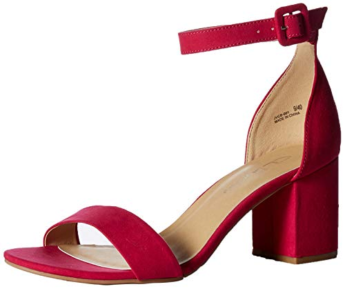 Jody Chinese Hot by Suede Laundry Sandal CL Heel Women's Block Pink Dress AIB1WwUqxa