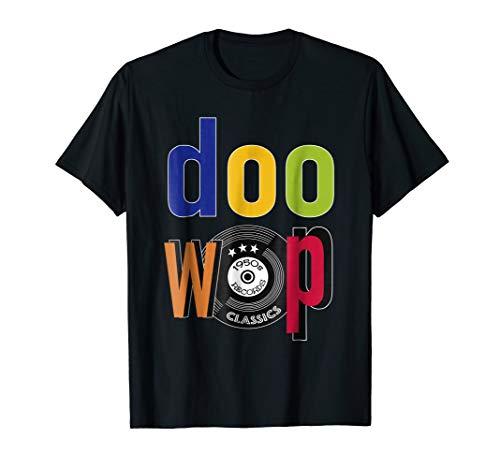 Doo Wop 1950s Sock Hop Clothing 50s 60s Rockabilly Tshirt ()