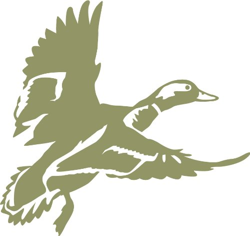Landing Zone 3 Duck Wall Decal (Olive - Reverse Facing - Large) - Waterfowl (Large Landing Duck)