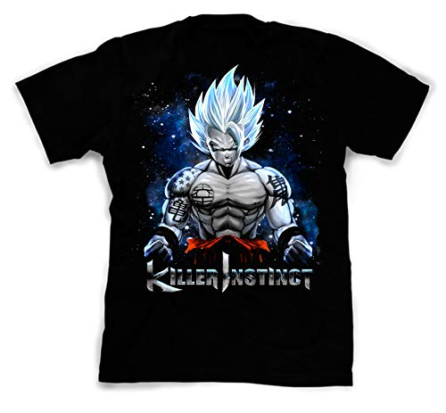 Dragon Silk Shirt (NovaTees Pop Culture Dragon Ball's Killer Instinct Inspired Fan Art Custom Made Designed T-Shirts Tees; Size: Large)