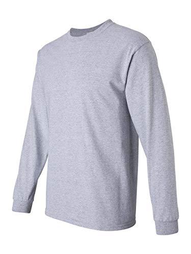 Gildan Adult L/S T-Shirt in Sport Grey - Medium