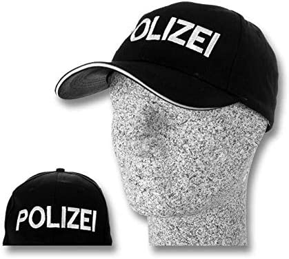 TacFirst Adultos Policía Gorra de béisbol de béisbol, Color Negro ...