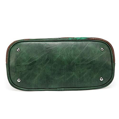 Bolso green Bandolera Costura De 16cm 23 Negro Casual Contraste Totalizador 11cm 23 Pu Mujer Hombro 41 27 Creativo La xnqHfXwfC