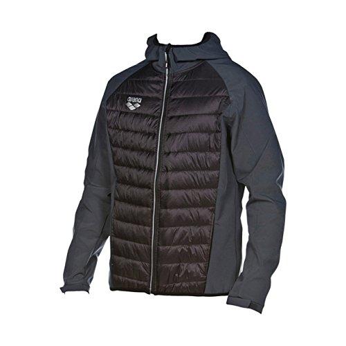 Arena 1D354 Women's Team Line Thermal Jacket, Black-Asphalt - 3XL by arena