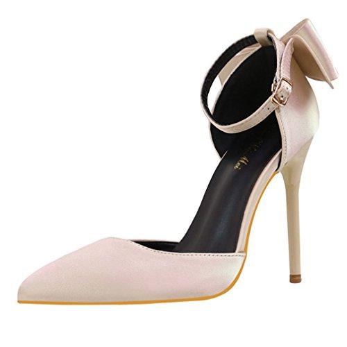 Spillo Tacco Cinturino con Scarpette Scarpe Caviglia alla Donna Alto Xianshu Punta Pompe con Beige PRwxx1