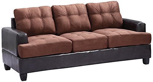 Glory Furniture G586A-S Living Room Sofa, Chocolate
