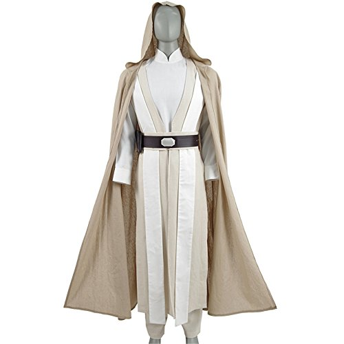 Luke Cosplay Costume The Last Jedi Costume Carnival Halloween Robe Outfit (X-Large, Beige)