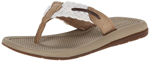 Girl's Sperry Kids 'Parrotfish' Thong Sandal, Size 1 M - Whi