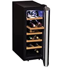 Koolatron WC12-35D 12 Bottle Deluxe Wine Cellar, Black