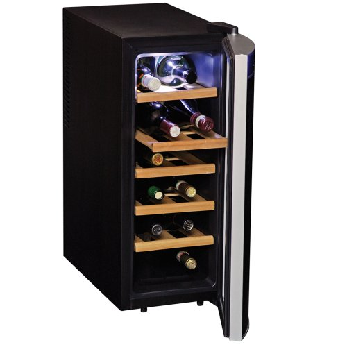 Koolatron WC12-35D Black 12 Bottle Deluxe Wine Cellar Koolatron 12 Bottle