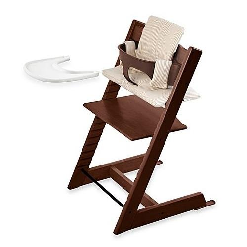Walnut Chair High (Stokke Tripp Trapp Walnut High Chair Complete Bundle)