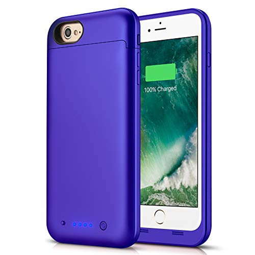 Battery Case for iPhone 7/8, LCLEBM 4500mAh Portable Protective Charger Case Compatible with iPhone 7/8(4.7 inch) Rechargeable Power Bank Extended Battery Charging Case-Purple