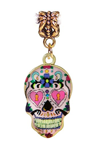 Day of the Dead Sugar Skull Charm for