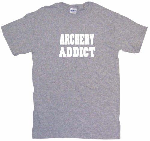 Archery Addict Big Boy's Kids Tee Shirt Youth XL-Gray