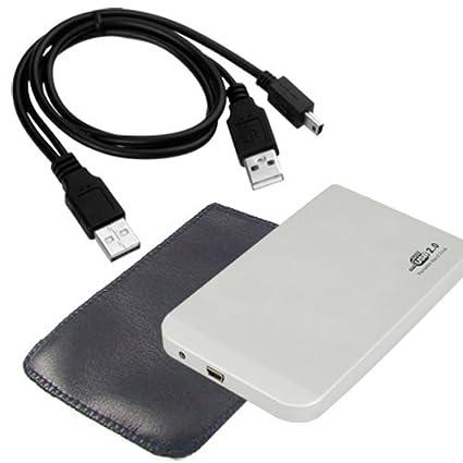 SODIAL(R) USB 2.0 Caja externa p Disco Duro aluminio IDE 2.5 inch