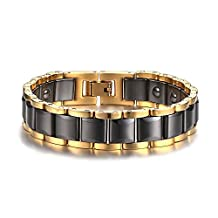 Brand New Men's Tungsten Carbide Magnetic Hematite Bracelet in a Gift Box, Anti-fatigue, Pain-relief