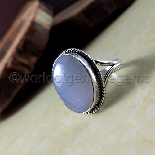 solid 925 sterling silver, blue lace agate, woman bohemian jewelry, blue lace agate birthday gift ring, designer handmade jewelry, blue lace agate statement ring,brilliant quality blue lace agate ring