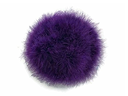 Moonlight Feather | 2 Yards - Purple Turkey Medium Weight Marabou Feather Boa, 25 grams for Halloween, Costume, Party and More