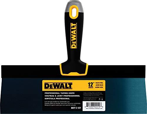 DEWALT 12 Taping Knife | Blue Steel w/Soft Grip Handle | DXTT-2-127