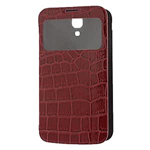 Crocodile Texture Skylight Pattern PU Leather Protective Pouches for Samsung Galaxy I9200 --- COLOR:Black