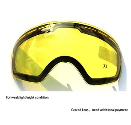 1b70ff695d3 Amazon.com   COPOZZ Double Brightening Lens Ski Goggles Night Of Model  Number GOG-201 For Weak Light Tint Weather Ction With Other Glasses    Everything Else