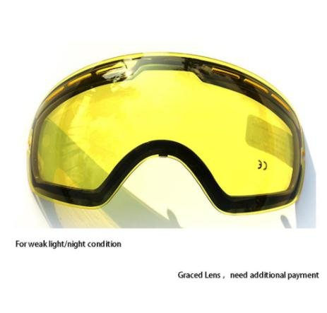 COPOZZ Double Brightening Lens Ski Goggles Night Of Model Number GOG-201 For Weak Light Tint Weather Ction With Other - Lens Removal Oakley