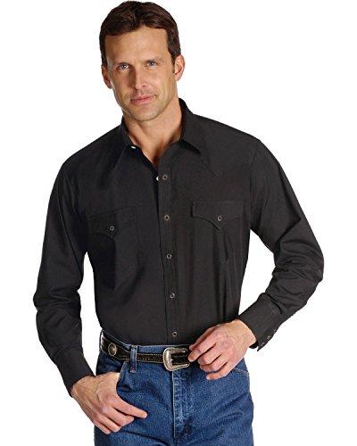 Ely & Walker Men's Size Long Sleeve Solid Western Shirt, ...