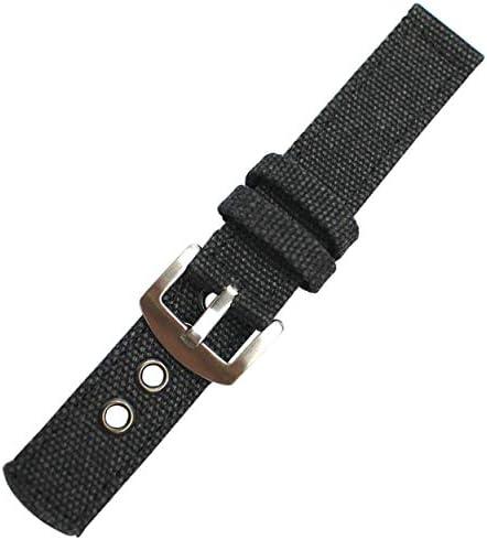 替えベルト 布ベルト ミリタリー柄&無地腕時計用ベルト BELT004 腕時計用ベルト BLK-18mm [並行輸入品]
