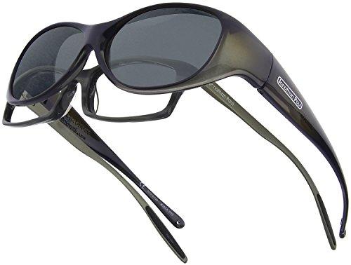 Fitovers Eyewear Kiata/Nagari Sunglasses (Olive Charcoal, Polarvue - Jonathan Paul Glasses