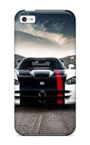 Sanp On Case Cover Protector For ipod touch4 (dodge Viper 10)