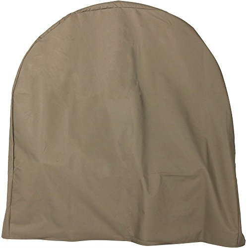 - Sunnydaze Firewood Log Hoop Cover ONLY, Heavy-Duty Outdoor Waterproof and Weather-Resistant, 40-Inch, Khaki