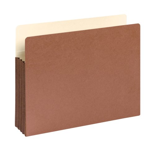 "Smead File Pocket, Straight-Cut Tab, 3-1/2"" Expansion, Letter Size, Redrope, 10 per Box (73264)"