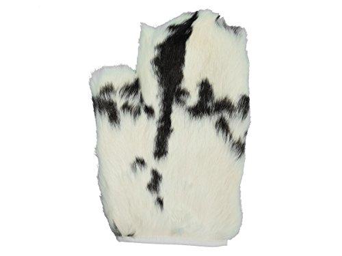 (1 single Rabbit Fur Massage Mitt (Spotted))