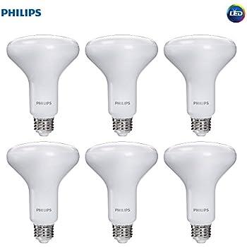 Philips LED Dimmable BR30 Frosted Light Bulb with Warm Glow Effect: 650-Lumen, 2700-2200-Kelvin, 9-Watt (65-Watt Equivalent), E26 Medium Screw Base, ...