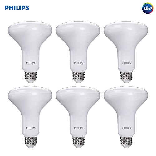 Philips LED Dimmable BR30 Frosted Light Bulb with Warm Glow Effect: 650-Lumen, 2700-2200-Kelvin, 9-Watt (65-Watt Equivalent), E26 Medium Screw Base, Soft White, 6-Pack