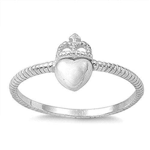 Celtic Heart Crown Ring...