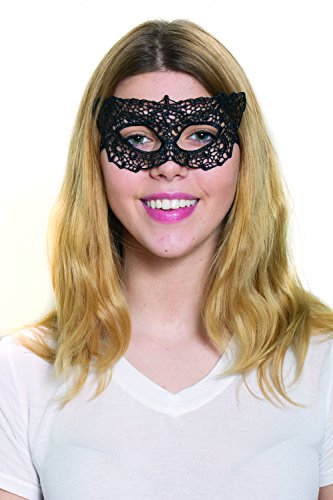 HMS Women's Lace Woodland Fairies Mask, Black, One Size