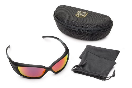 Revision Military Hellfly Ballistic Sunglasses - Black Frame/Flame Mirror Lenses