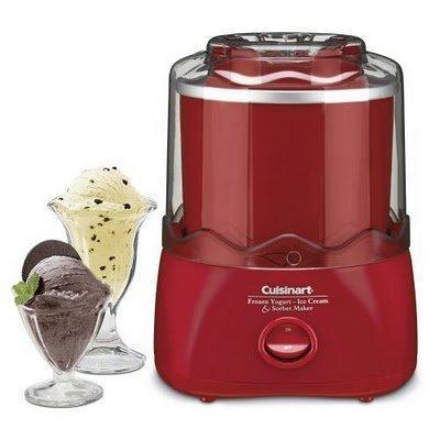 Cuisinart Frozen Dessert Maker (RED) - Frozen Yogurt, Ice...